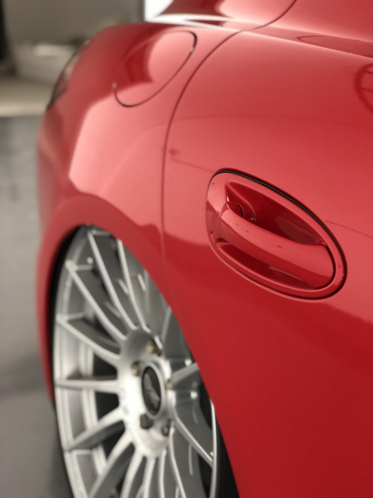 Porsche Panamera in Avery Carmine red gloss