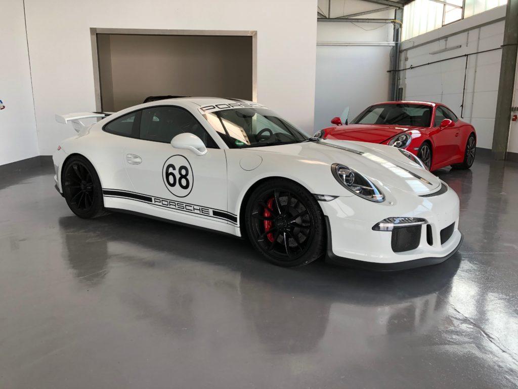 Racingdesign an einem Porsche GT3