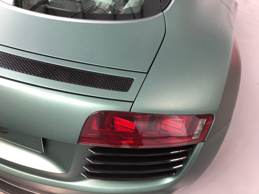 Audi R8 matt pine Green Metallic Folierung