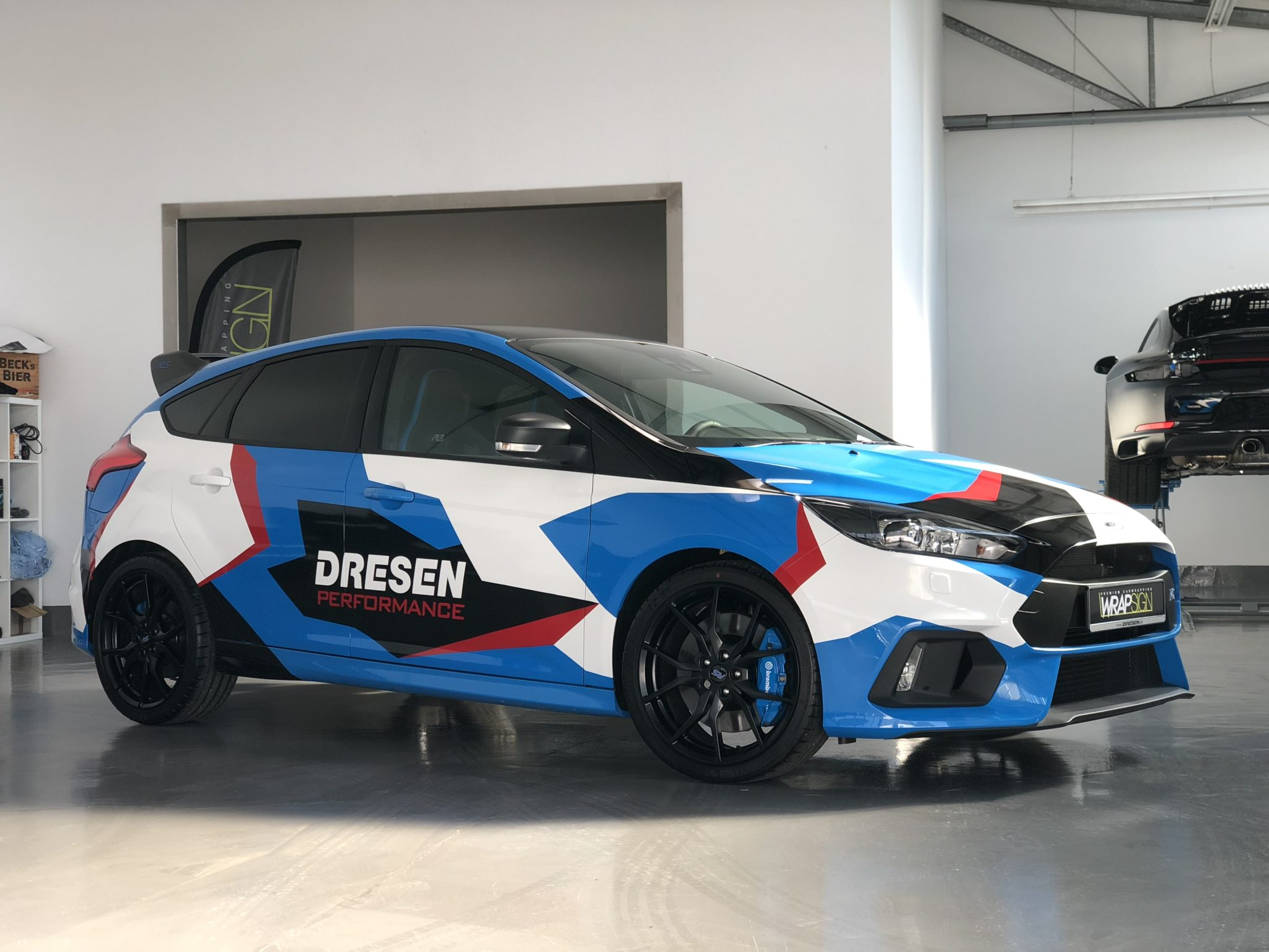 Ford Focus RS im Camouflage Design von Dresen Performance by Wrapsign