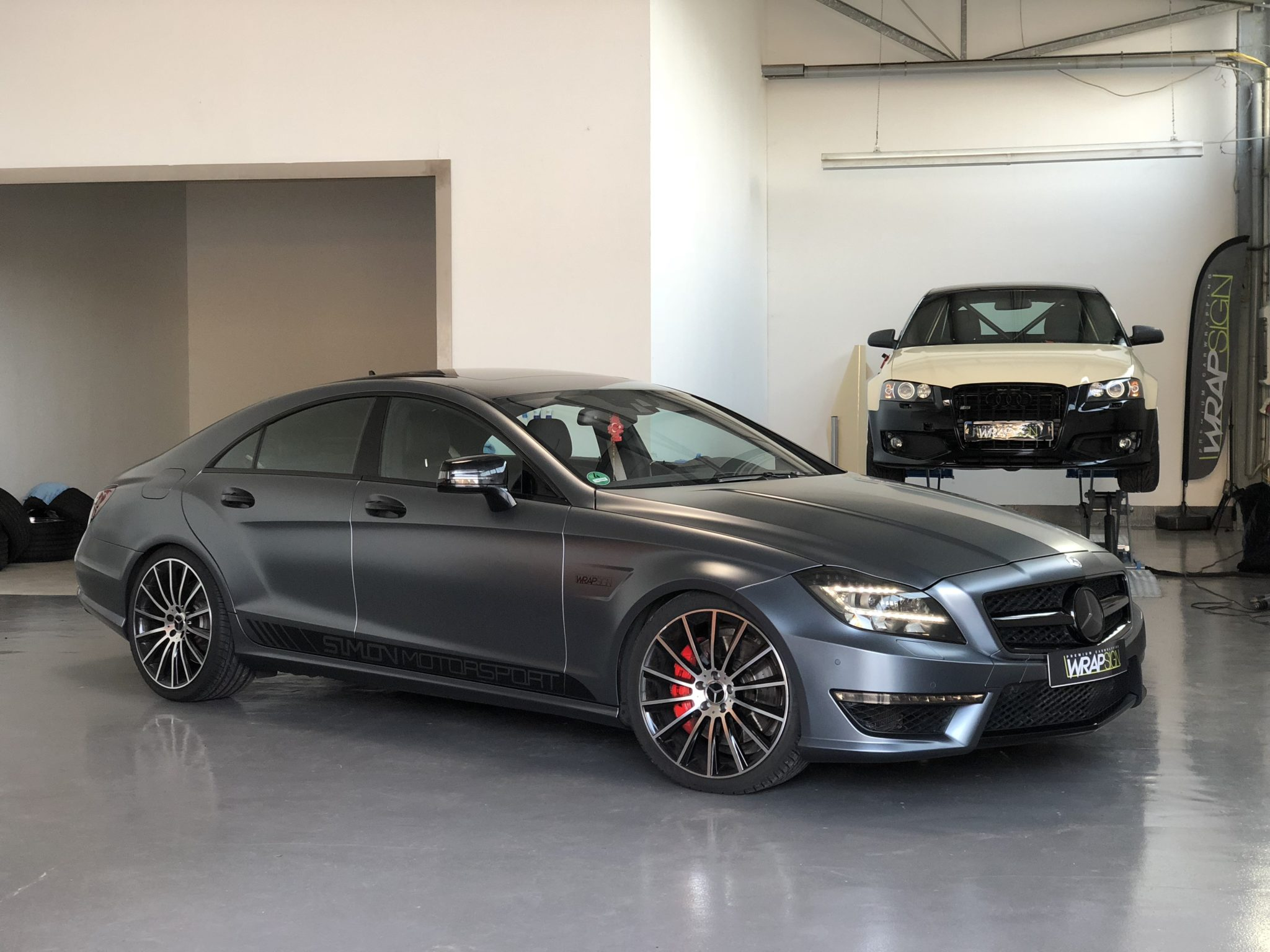 Mercedes CLS AMG Avery Satin Graphite