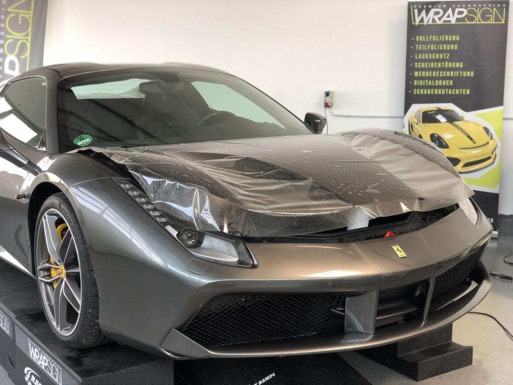 Lackschutz Ferrari 488