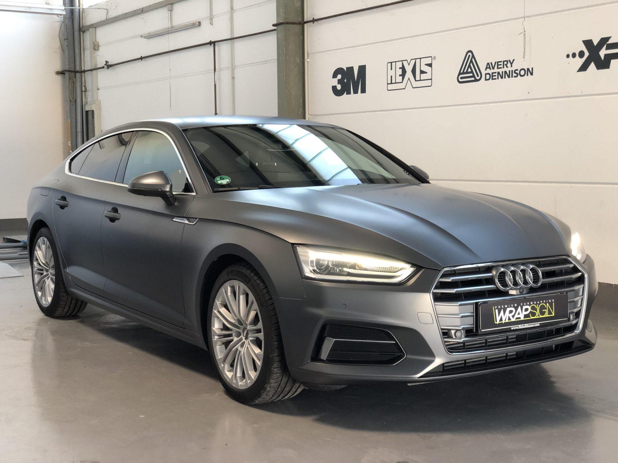 Audi A5 satin charcoal
