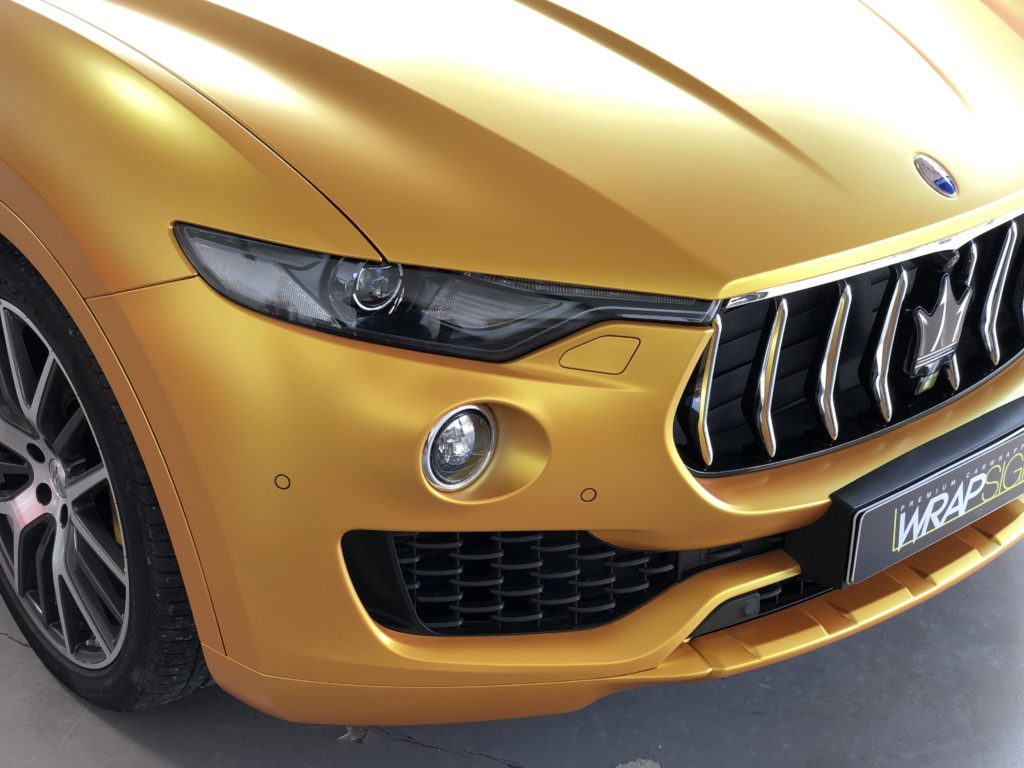Maserati Levante Energetic Yellow Folierung