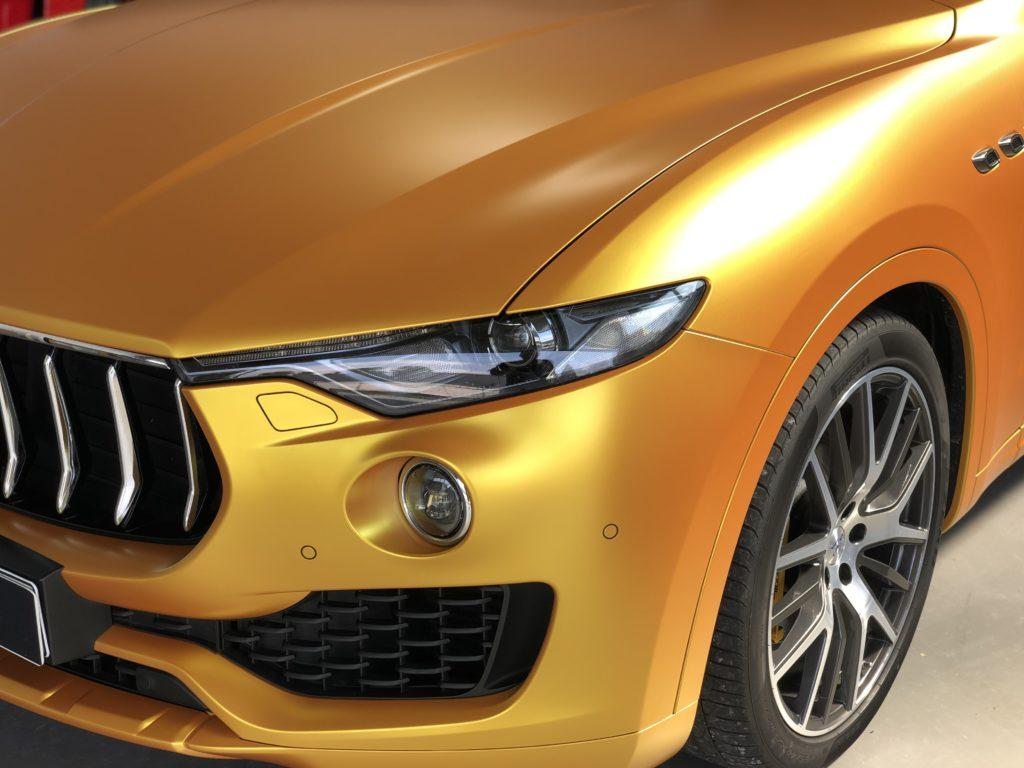 Maserati Levante Energetic Yellow Folierung