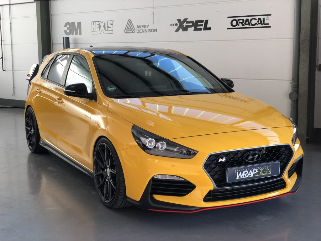 Hundai i30N Dark Yellow Vollfolierung