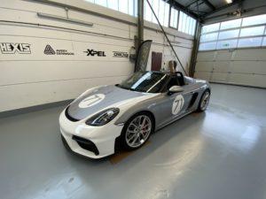 Porsche 718 Spyder Autofolierung
