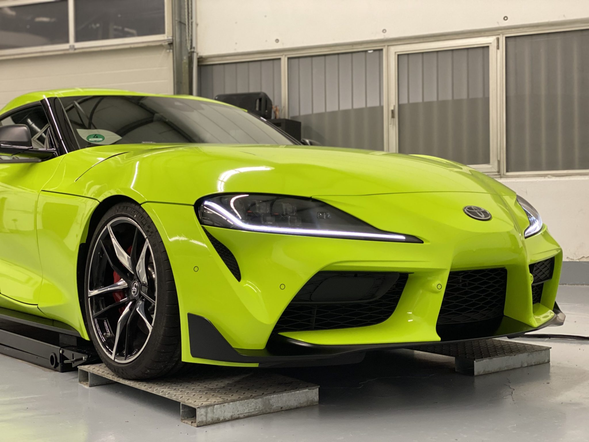 Toyota Supra Acid Green Design