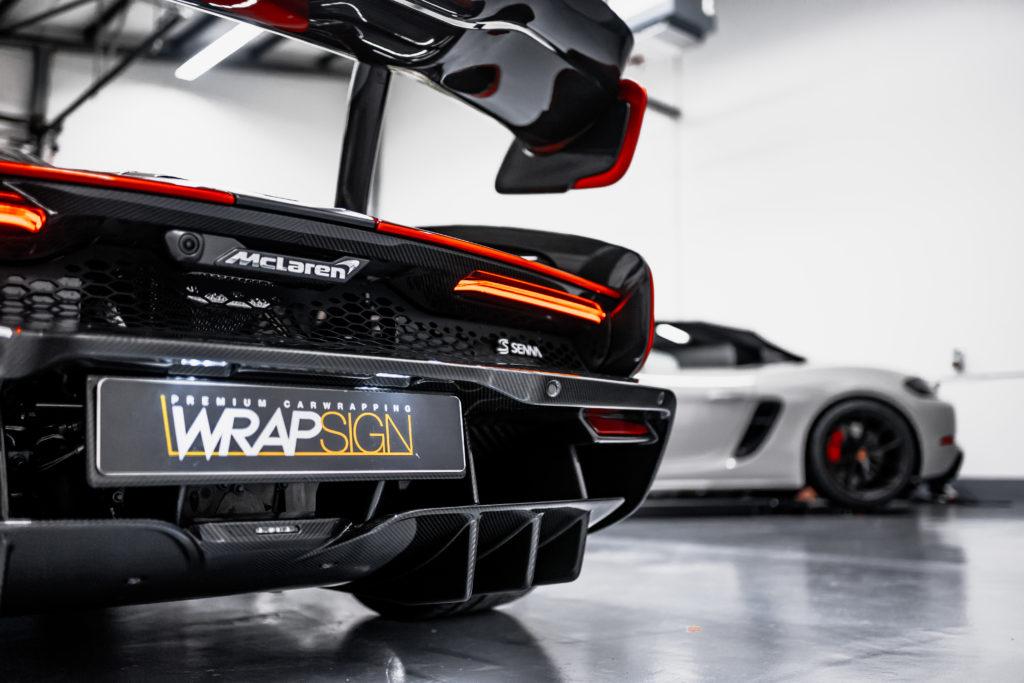 McLaren Senna mit Lackschutzfolie