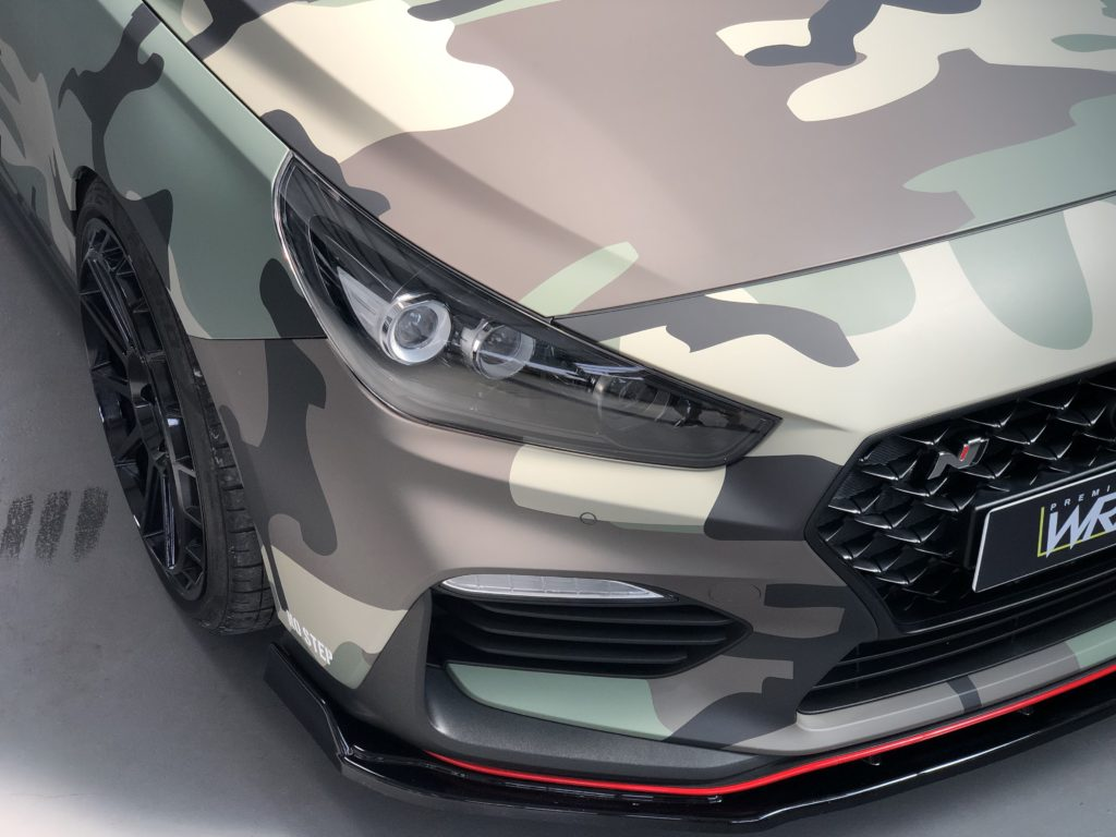 Hyundai i30n Camo Folierung Motorhaube