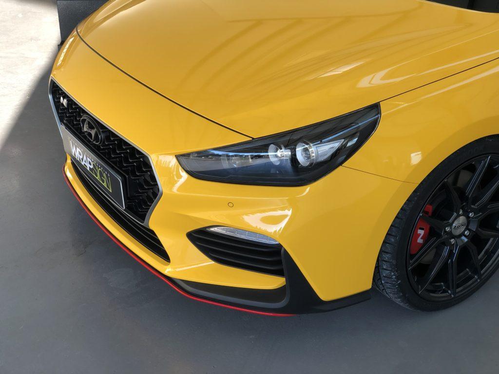 Hyundai i30n Gelb Folierung Front