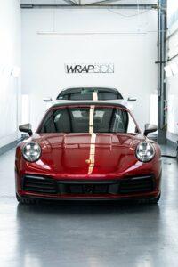 Porsche Targa 992 4S Vollfolierung Frontansicht